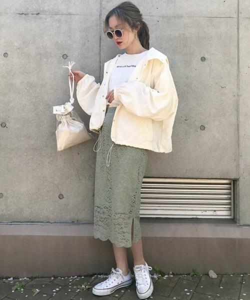 フラワーレースタイトスカート2