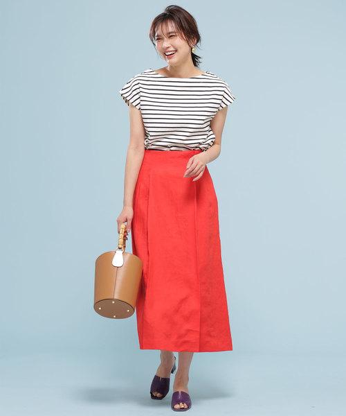 フレンチリネンラップ風スカート