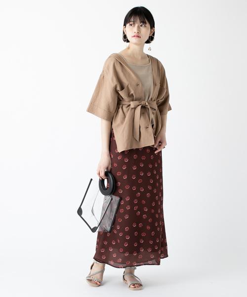 [mystic] レトロフラワーマーメイドスカート