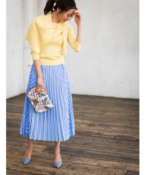 [tocco closet] ストライプ柄プリーツスカート