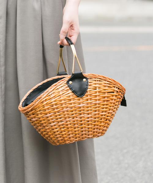 [SHIPS for women] 【WEB限定】Khaju:リングハンドルメッシュバッグ◇