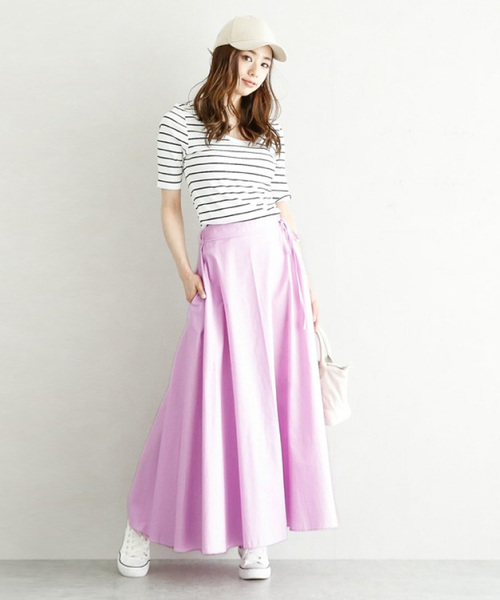 [La-gemme] ロング丈スカート