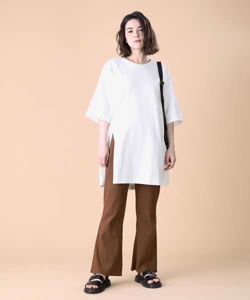[FREAK'S STORE] リバーシブル天竺スリットTシャツ