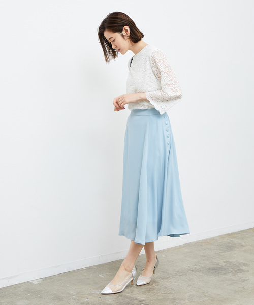 [ROPE' PICNIC] サイドボタンスカート