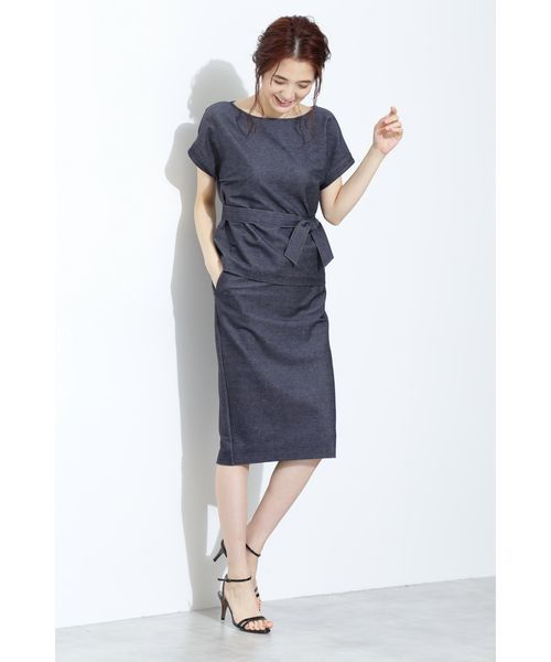 [BOSCH] ストレッチデニムジャージースカート【セットアップ対応商品】