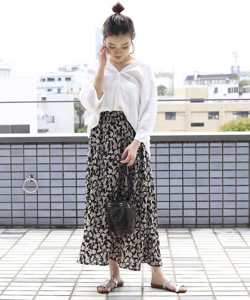 [FREAK'S STORE] ▽【WEB限定】フラワーギャザースカート