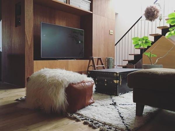 スタンダードなテレビボードは、インテリアになじむものをチョイス☆4