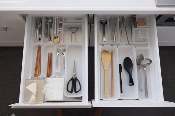 ④カトラリーキッチンツール&収納アイデア