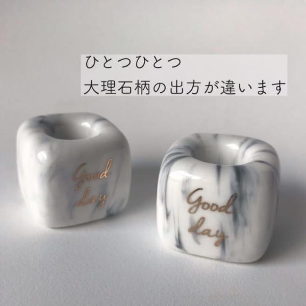 ダイソー 大理石風柄の歯ブラシスタンド