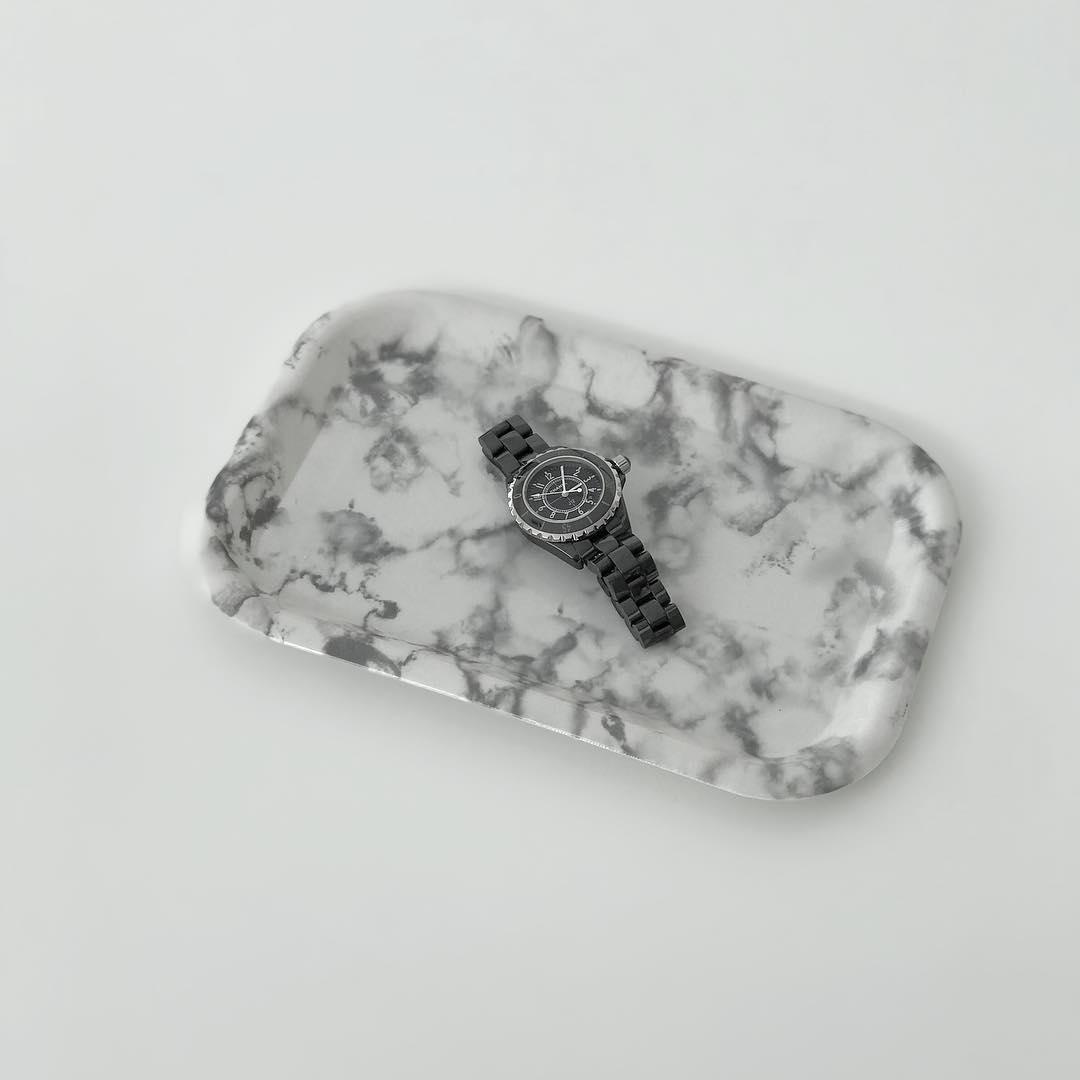 キャンドゥ PPトレー大理石調3