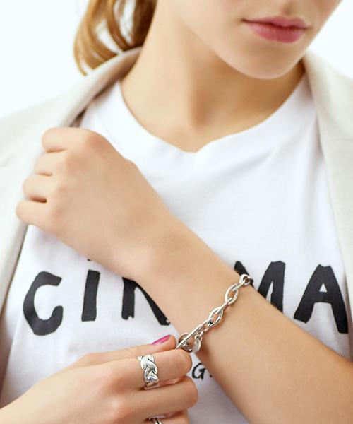 [EMMEL REFINES] PHILIPPE AUDIBERT オーバルチェーンブレスレット / bracelet Elton