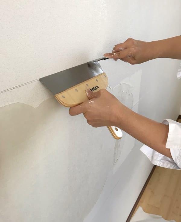 壁面 黒板塗料 DIY2
