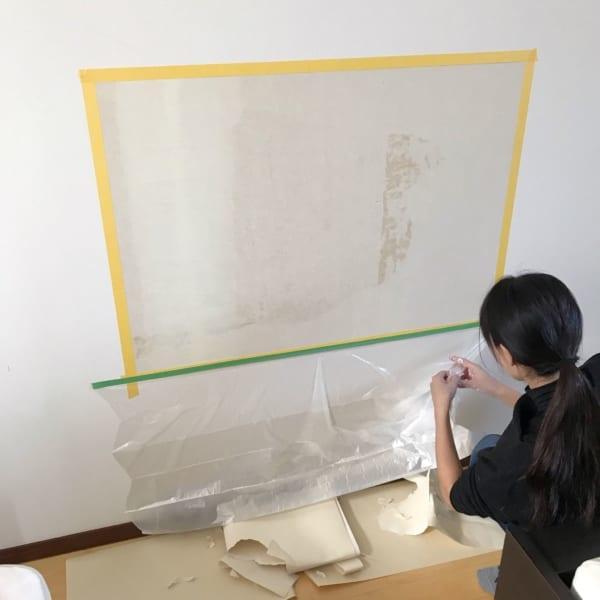 壁面 黒板塗料 DIY5