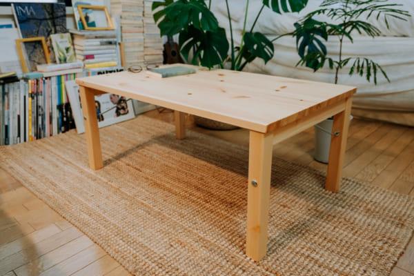 4. 無印良品のパイン材ローテーブル