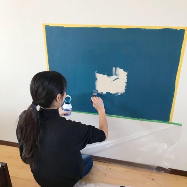 壁面 黒板塗料 DIY6