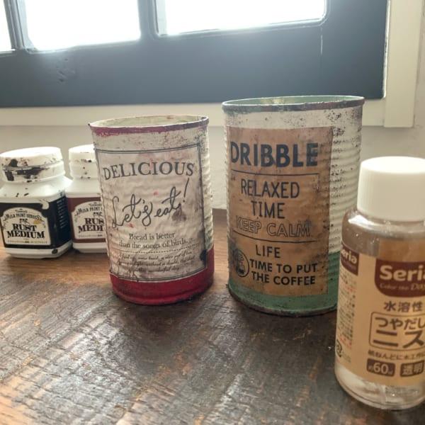 セリアでお洒落なリメ缶DIY9