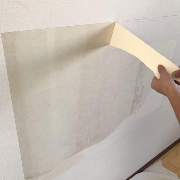 壁面 黒板塗料 DIY3