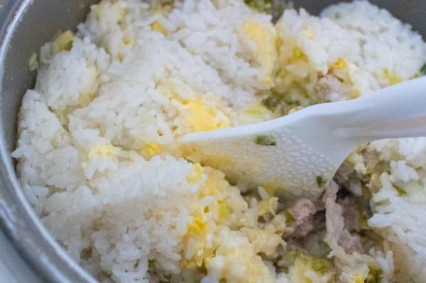 ネギ豚チャーハンと簡単副菜4