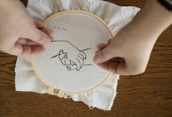 刺繍 作り方 下地シート2