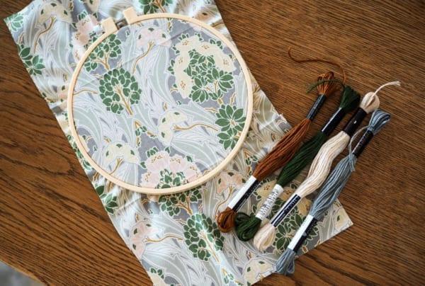 刺繍 作り方 プリント生地