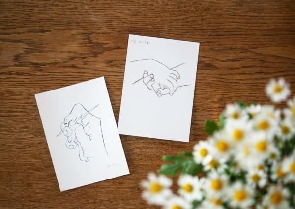 刺繍 モチーフ ポストカード