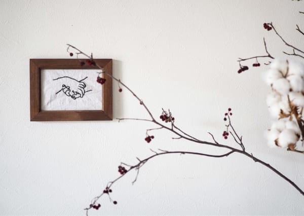 刺繍 作り方 ディスプレイ