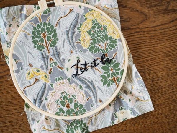 刺繍 作り方 プリント生地3