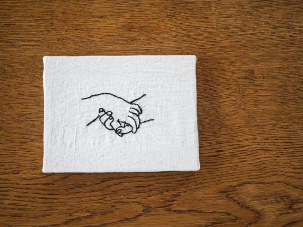 刺繍作品 ディスプレイ キャンバス3