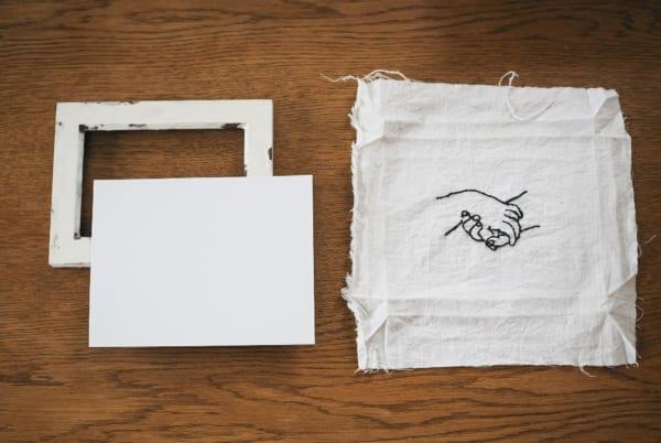 刺繍作品 ディスプレイ キャンバス