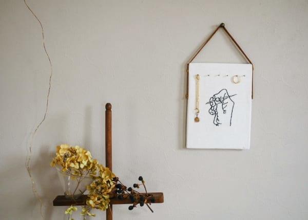 刺繍作品 ディスプレイ キャンドゥ コルクボード5