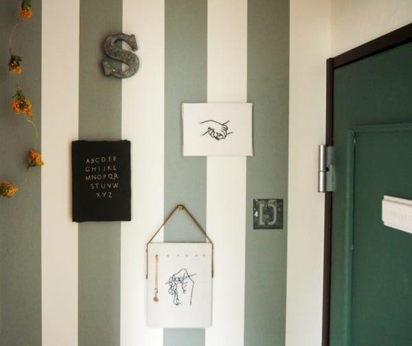 刺繍作品 ディスプレイ キャンドゥ コルクボード7