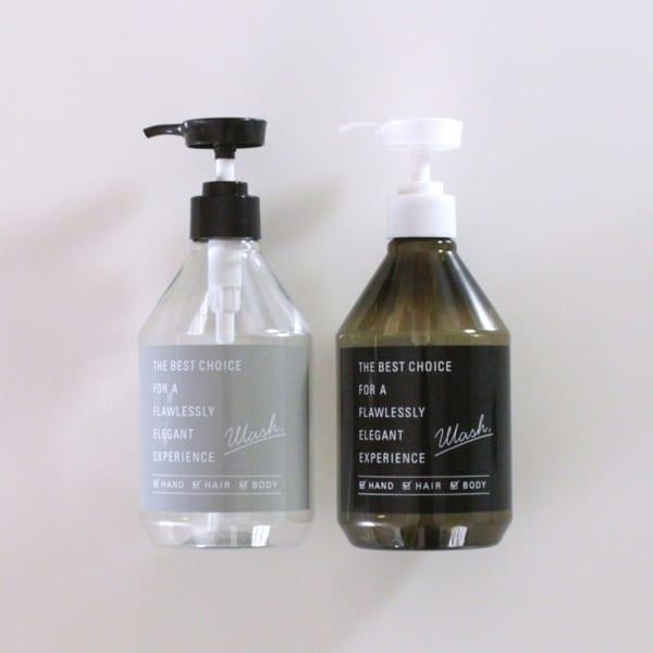 タイポグラフィーデザインのポンプボトル