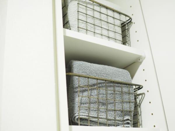 洗面所のタオル収納3
