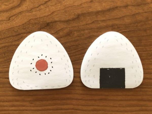 おにぎり柄と目玉焼き柄のダイカットメモ4