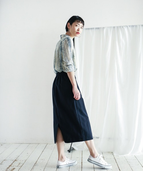 [NOMBRE IMPAIR] Nyポプリン セミタイトスカート