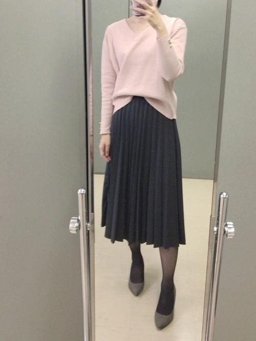 ユニクロ グレースカート コーデ2