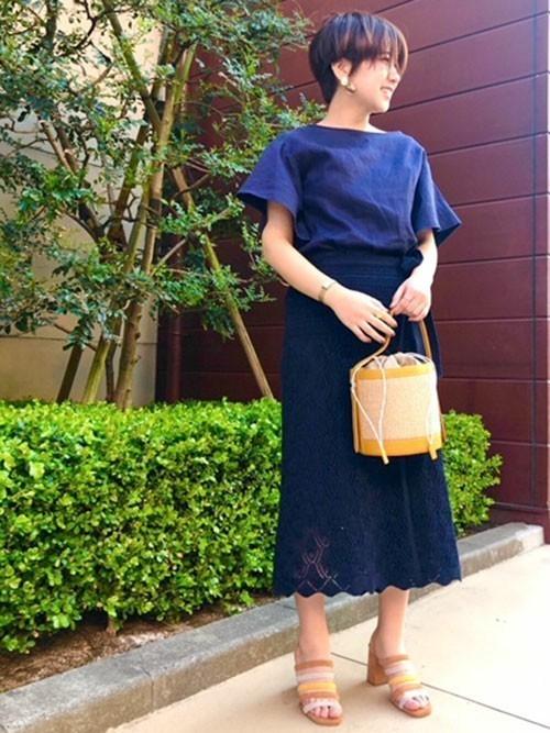 【Oggi 5月号掲載】 クロシェレースラップスカート