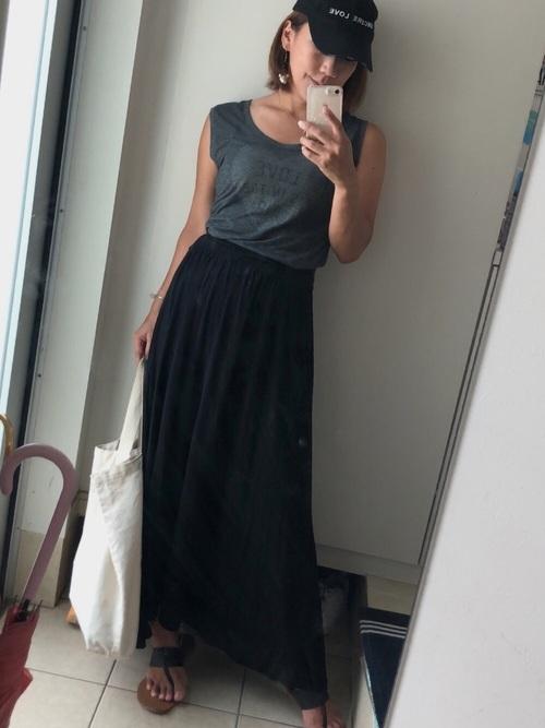 選べるカラバリ◆フレアロングスカート
