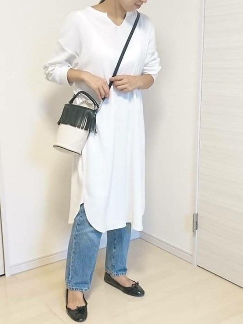 白Tシャツワンピ2