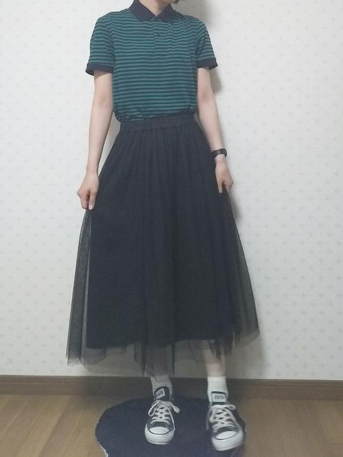 カジュアルなスカートコーデ