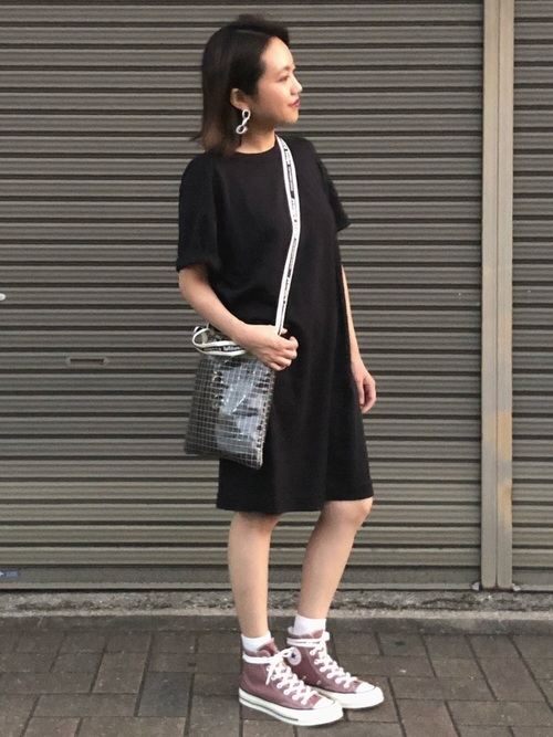 黒Tシャツワンピ2