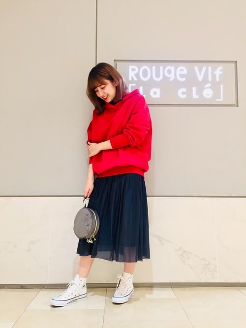 [Rouge vif la cle] 裏毛ロングパーカー