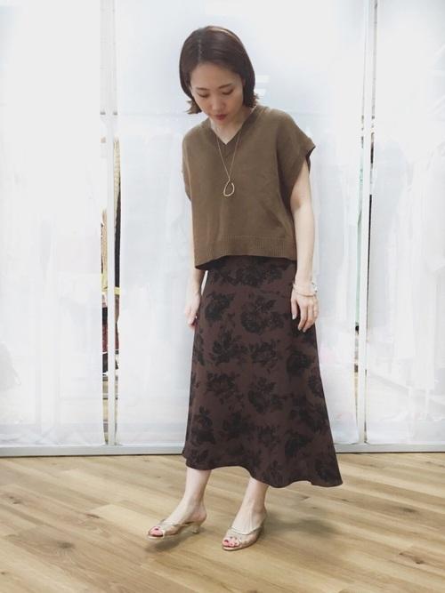 Pフラワーアシメスカート