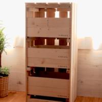 すのこと組木で可愛い収納棚DIY