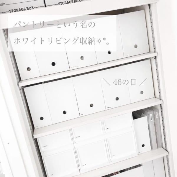 ②ニトリのファイルボックス×マルチ収納でホワイト収納