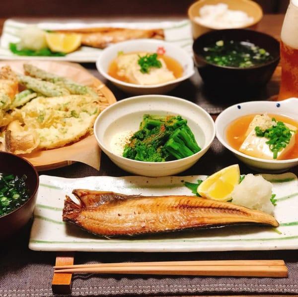 ホッケの焼き魚定食