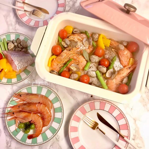おしゃれにおもてなし料理のアクアパッツァ
