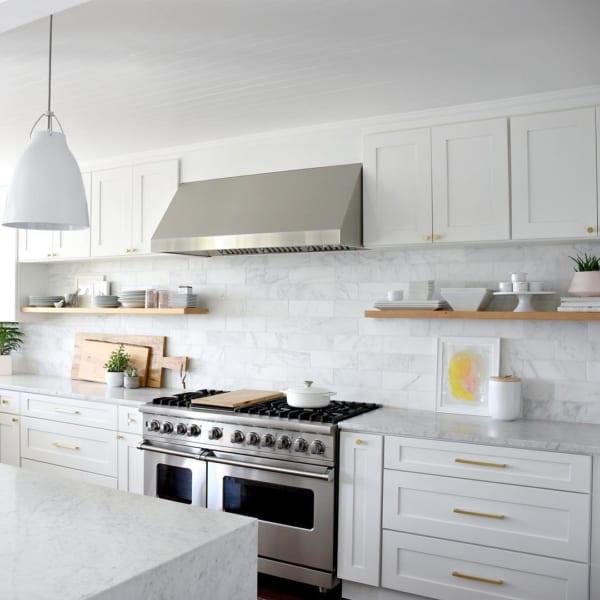 海外ホワイトインテリア実例:キッチン4