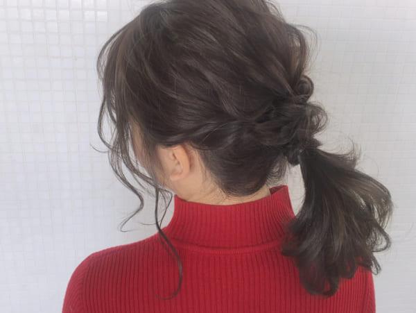 ミディアムのまとめ髪①ポニーテール12