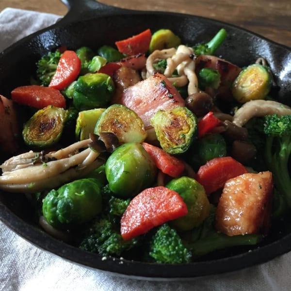 ベーコン野菜炒め
